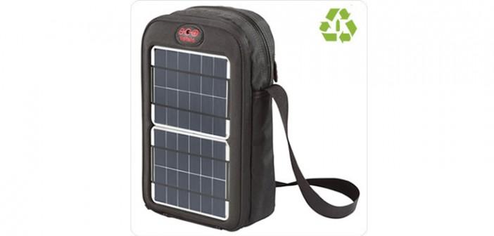 Geantă solară cu panouri fotovoltaice portabile