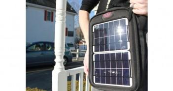 Rucsac fotovoltaic cu baterii solare pentru laptop