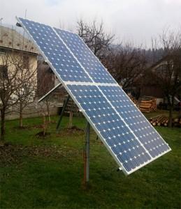 Tracker solar cu structura din profil cu dublu ax