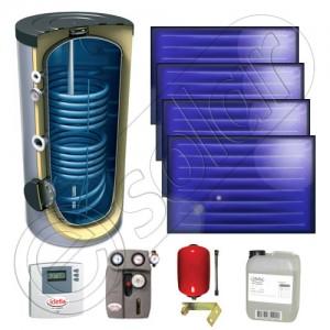 Set panouri solare plane cu boiler