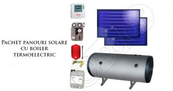 Pachet panouri solare cu boiler termoelectric