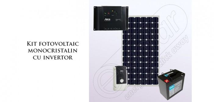 Kit fotovoltaic monocristalin cu invertor