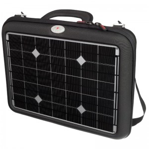 Geantă solară cu celule fotovoltaice pentru încărcare dispozitive