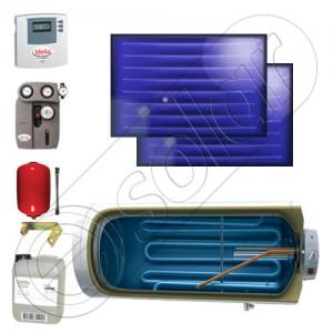Kit panouri solare plane de calitate germană cu boiler pentru încălzirea ecolgică a apei menajere