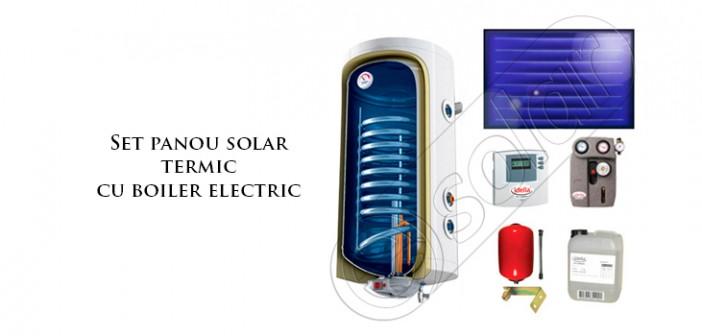 Panouri solare ISMO la set cu boiler electric