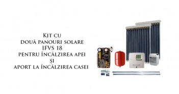 Kit termic cu panouri solare vidate