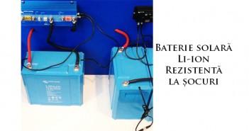 Baterie solară rezistentă la șocuri Li-ion