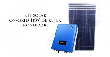 Kit solar on-grid 1 kW de rețea monofazic