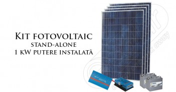 Kit fotovoltaic stand-alone preț accesibil