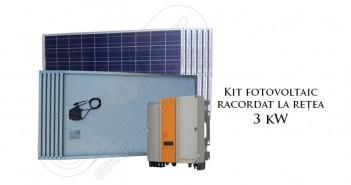 Kit solar cu injectare în rețea 3 kW