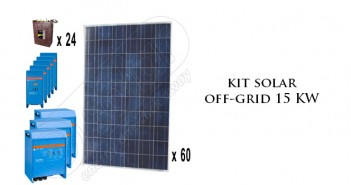 Kit solar off-grid 15 KW