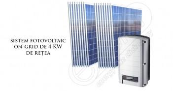 Sistem fotovoltaic on-grid 4 kW de rețea
