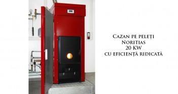Cazan pe peleți Noritias 20 kW cu eficiență ridicată