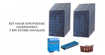 Kit panouri fotovoltaice solare de 5 KW putere instalată prețuri ieftine