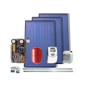 Pachet solar fără boiler cu 3 panouri solare plane preț
