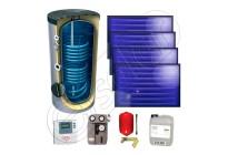 Kit solar apă caldă cu 4 panouri Idella și boiler bivalent 200 litri preț