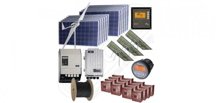 Sisteme hibride solare și eoliene cu producție de 10kW media zilnică preț