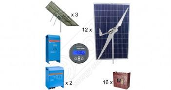 Kituri sisteme hibride cu instalaţii fotovoltaice pe trakere şi eoliene preț