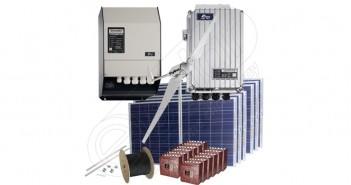 Instalaţie hibridă cu panouri solare fotovoltaice şi turbină eoliană preț