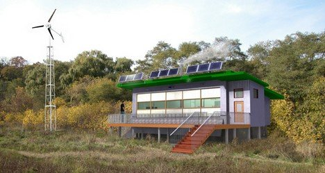 Casă off grid eficientă energetic