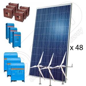 Sistem hibrid fotovoltaic cu eoliene