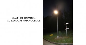 Stâlpi de iluminat cu panouri fotovoltaice