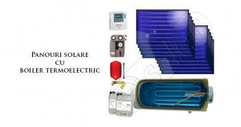 Pachet panouri solare plane cu boiler