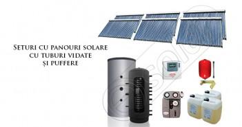 Set panouri solare şi puffer