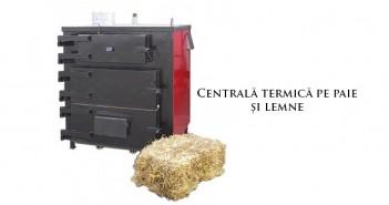 Centrală termică pe paie și lemne