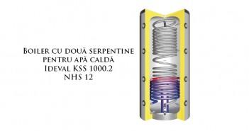Boiler cu două serpentine pentru obținere apă caldă prețuri ieftine