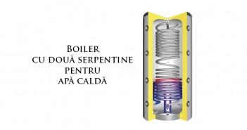 Boiler cu două serpentine pentru panouri solare