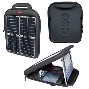 Geantă fotovoltaică tip încărcător pentru laptopuri