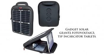 Geantă fotovoltaică tip încărcător