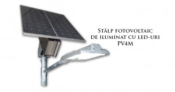 Stâlp fotovoltaic de iluminat cu LED-uri PV4M