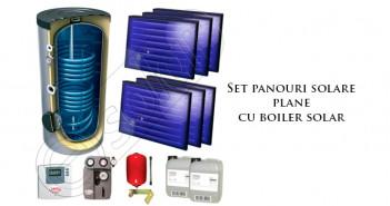 Set panouri solare plane cu boiler solar