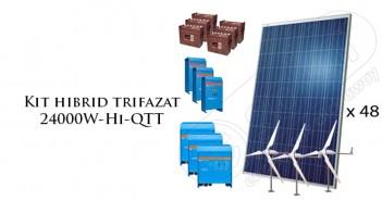 Kit hibrid cu panouri fotovoltaice și eoliene