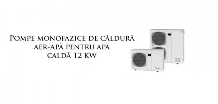 Pompe de caldura aer-apa IHAW 12 kW pentru incalzire si apa calda monofazice 230 V