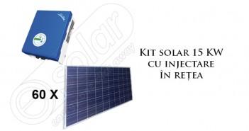 Kit solar 15 KW cu injectare în rețea