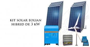 Kit solar eolian hibrid 3 kW