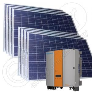 Kit solar 2 KW cu injectare în rețea