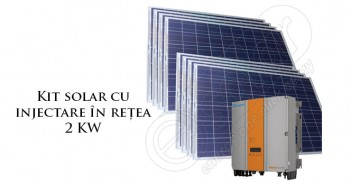 Kit solar 2 kW de rețea
