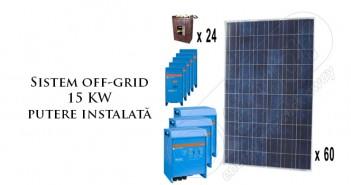 Sistem off-grid 15 KW putere instalată