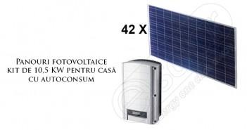 Panouri fotovoltaice kit 10,5 KW pentru casă cu autoconsum
