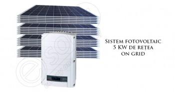 Sistem fotovoltaic 5 KW de rețea on grid