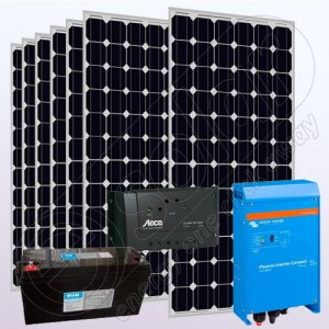 Kit fotovoltaic stand-alone cu invertor