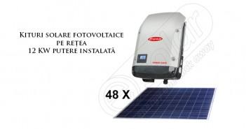 Kituri cu panouri solare fotovoltaice la rețea de 12 KW prețuri ieftine