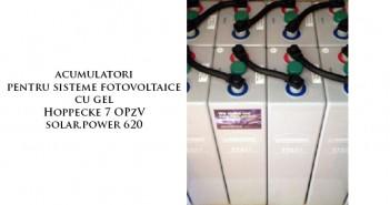 Acumulator solar fotovoltaic cu gel Hoppecke 7 OPzV solar.power 620 de calitate