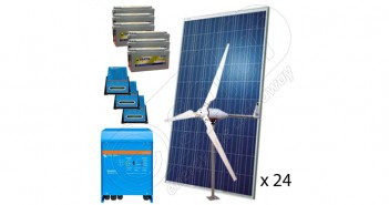 Sistem fotovoltaic cu eoliană 8KW preț