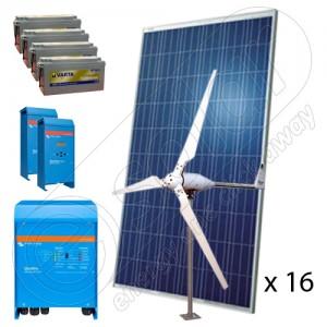 Sisteme fotovoltaice  complete hibride off-grid 5 KW preț