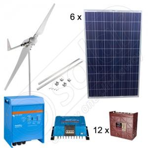 Sistem monofazat eolian şi solar de 3 kW pentru agricultură preț